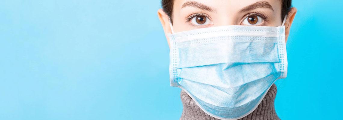 Masques de protection bleu 3 plis